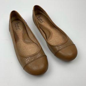 Born Concepts BOC Nude Leather Flats Cap Toe 8.5